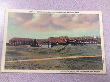 Grand Canyon Hotel Yellowstone National Park WY vintage Haynes postcard