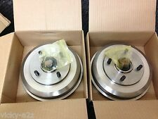 FORD FOCUS REAR 2 BRAKE DRUMS + 2 FITTED WHEEL BEARINGS BRAND NEW