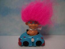 """BOY IN HIS WIND UP CAR - 3"""" Russ Troll Doll Toy - NEW IN ORIGINAL WRAPPER"""