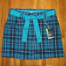 Nike Fashion Convert Tartan Plaid Golf Skort Women 8 542062-326 Shorts Skirt New