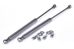 VW Golf Jetta MK3 3 Chrome Hood Gas Lifter Lifts Dampers Hing Struts Shocks GTI-