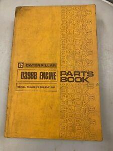 Caterpillar D398B engine parts manual. Genuine Cat book.