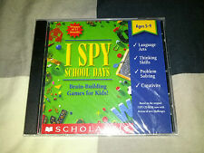 I Spy: School Days -- Brain-Building Games for Kids (PC, 1995) BRAND NEW SEALED!