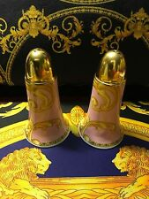 VERSACE SALT PEPPER SHAKERS SET BYZANTINE PINK GOLD ROSENTHAL NEW IN BOX SALE