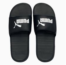 New PUMA Cool Cat Slides Sandals Black / White Puma Logo Men's Size 9