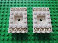 Lego 2 x Platte Eckplatte 30504 weiß  8x8 10019 7893 10213 7931