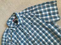 The North Face Men's Button Front Short Sleeve Shirt Casual/Dress Sz L #M2