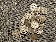 Lot of (10) 90% Silver Washington Quarters !! $2.50 Face