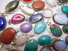 Amethyst Gemstones 1pcs Pendant 925 Silver Overlay SP-06