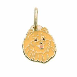 Dog name ID Tag,  Pomeranian, Personalised, Engraved, Handmade, Charm
