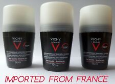 Vichy Homme 72H anti-perspirant deodorant roll-on for men made in France 3x 50ml