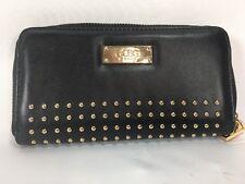 BCBG PARIS studded zippered royal black wristlet wallet punk nautical