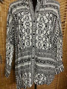 LADIES PIPER OVERSIZE SHIRT SIZE 12 FIT UP TO 18/20