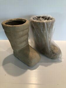 New Pair Of Unfinished Paper Mache Santa Boots