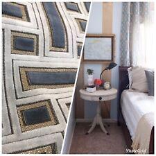 Novelty Italian Burnout Geometric Chenille Upholstery Velvet Fabric -Gray BTY