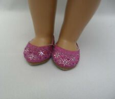 Authentic American Girl Doll Hot  Pink Jewel Glitter Shoes