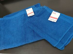 Two brand new towels ( Hand And Bath Towel)100% cotton, blue colour.