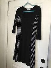 Calvin Klein Black And White Jersey Dress Size 8