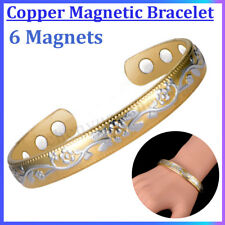 Men Women Magnetic Therapy Bracelet Arthritis Pain Relief Copper Bangle Gift