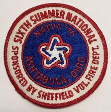 NATVA SUMMER NATIONAL CLOTH PATCH-76 ASHTABULA OH  ATTEX,HUSTLER,MAX,SCRAMBLER