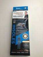 NIB COPPER FIT BALANCE PERFORMANCE ORTHOTIC INSOLES SMALL AS SEEN ON TV