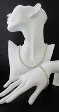 Rhinestone Gold Necklace Vintage Costume Jewellery (1950s)