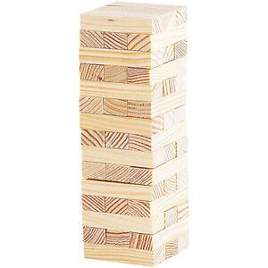 """Holzturm Spiel: Geschicklichkeitsspiel """"Wackelturm"""" mit 48 Spielsteinen aus Holz"""