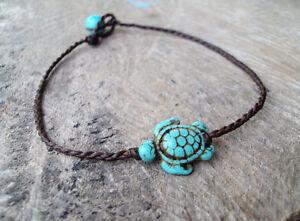 Turtle anklets,Stone anklets,Turquoise anklets,Women anklets,Blue anklets