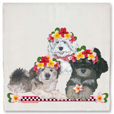 Havanese Dog Floral Kitchen Dish Towel Pet Gift