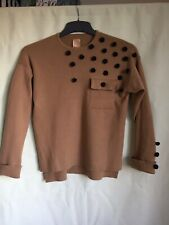 Zara Knitwear Girls Brown Viscose Round Neck Jumper Age 10(126)