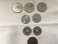 8 Japanese Yen Coins -- Three 500 Yen, (2) 100, (2) 50, 10