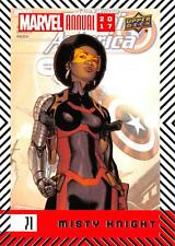 MISTY KNIGHT / 2017 MARVEL ANNUAL (2018 Upper Deck) BASE Trading Card #71