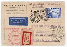 1929 Graf Zeppelin Flight to Tokyo Japan, Moscow Russia & Latvia - Postcard