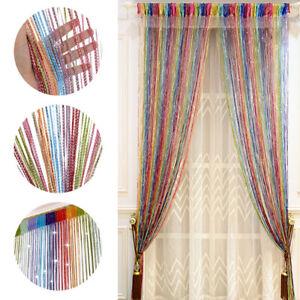 Hanging Beaded Curtain String Door Dividers Window Fly Screen Tassel Panel Home