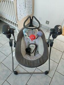 Nacelle / balancelle / balançoire électrique Babymoov pour Bébé couleur zinc