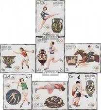 Laos 973-979 (complète edition) neuf avec gomme originale 1987 Jeux Olympiques É
