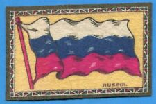 Early 1900's Tobacco Felt Country Flag Russia