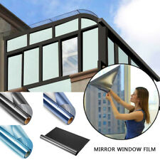 One Way Mirror Reflection Window Tint Film Privacy Protect Reduce Heat & Energy