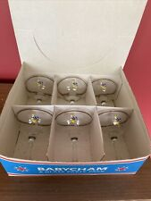 More details for babycham glasses 6 glass party pack -1970s yellow bambino. excellent condition