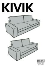 NEW IN BOX  KIVIK Loveseat (2-seat Sofa) from IKEA store. Tranas Black.