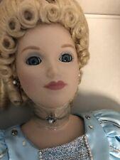 "Vintage 1987 Danbury Mint Nrfb 24"" Cinderella Blue Princess Porcelain Doll"