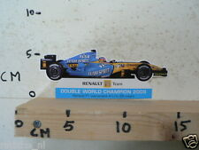 STICKER,DECAL RENAULT F1 TEAM DOUBLE WORLD CHAMPION 2005 FORMULA ONE