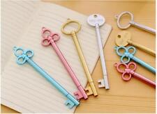 3 x Vintage Key Look fine point pen Party Cute Kids novelty stationery Fun Pink