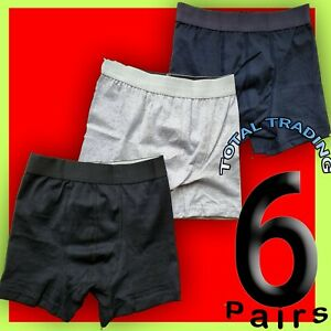 6 mens boxer shorts hipster trunks style fitted plain