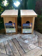 Wonderful Blue Bird Bluebird Cedar House, Made in Usa, New Set of 2