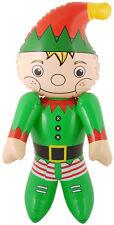 65 cm aufblasbarer Weihnachtself Weihnachten Elf Wichtel Christmas Deko Geschenk