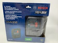 SEALED BOSCH 5-Point Self-Leveling Plumb and Square Alignment Laser GPL 5 S