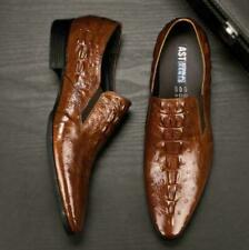 Mens Formal Alligator genuine Leather Pointy Toe Shoes Business Dress Loafers SZ