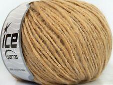 Bolivia Worsted Yarn #39713 Beige Wool Alpaca Acrylic Blend Yarn Ice 50gr 98yds