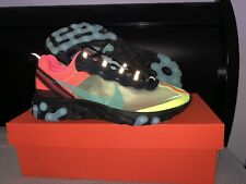 Nike React Element 87 Volt Racer Pink Sample W/blue Swoosh Size 9